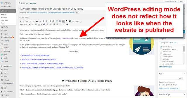 Wix vs WordPress - not drag drop