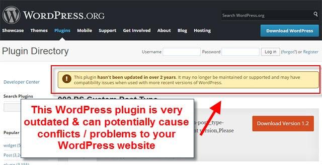 Wix vs WordPress - plugin outdated